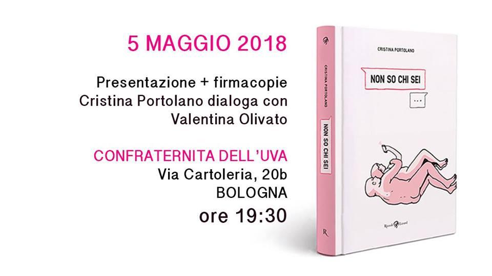 Libri selvaggi - Cristina Portolano con Non so chi sei (Rizzoli Lizard) - sabato 5 maggio a Bologna